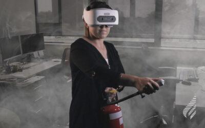 Sådan holder du et virtuelt brandkursus i elementær brandbekæmpelse.